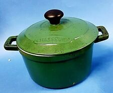 Casserole or Cooking Pot Chasseur France French in Green