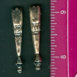 """Pewter Bolo Tie Tips ~ 1 Pair / 2 Pcs ~ NEW ~ 1 1/2"""" Long"""