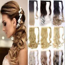 Luxus Ombre Pferdeschwanz Zopf Haarverlängerung Haarteile Blond Lange Dick Haare