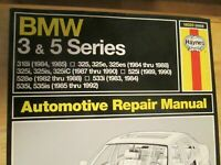 BMW 3 and 5 Series Repair Manual Haynes Covers BMW 318i 325 525i 528e 533i 535i