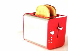 RED 2 SLICE VARIABLE BROWNING TOASTER 730-870W 1