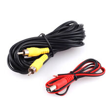 20ft RCA Video Cable w/Power Wire for Car Rear View Backup Camera Bus Truck CCTV