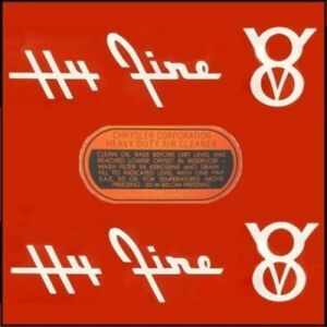 Air Cleaner Decal Set for 1955-1956 Plymouth V-8