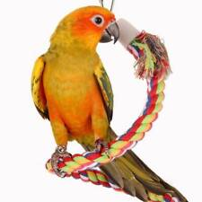 Bird Chewing Toy Parrot Rotary Ladder Climbing Hanging Stand Rack Cotton Rope JI