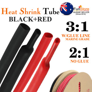 Heat Shrink Tubing Glue Lined Insulation Cable Sleeve Assortment Protect 3:1/2:1