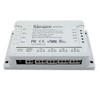 Sonoff 4CH Pro 4 Way Mounting WiFI Wireless Smart Switch 433MHZ Remote Control