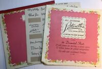 Vintage Pink Letterettes Stationery Paper 23 Pages With Stickers Captions 1940