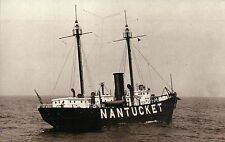 Nantucket Shoal Station Light Ship Floating Lighthouse Massachusetts MA Postcard