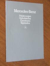 1982 Mercedes-Benz range Upholsteries original 14 page brochure