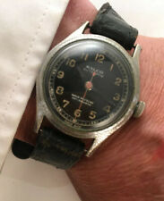 Vintage Ralco Automatic Black Dial Military Aviator  Style 15 Jewels Gents Watch