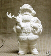 Ceramic Bisque Santa with Reindeer Gare Mold 3394 U-Paint Ready To Paint