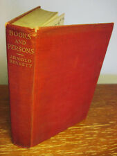 1st Edition BOOKS AND PERSONS Arnold Bennett ESSAYS Criticism FIRST PRINTING