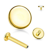 1,2mm Gold Micro Labret Runde Platte Ohr Tragus Helix Piercing Innengewinde