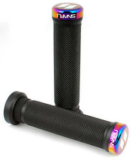 Snafu Mountain Bike BMX Handlebar Lock On Grips - Jet Fuel Oil Slick RRP£29.99