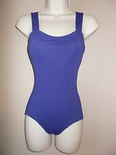 Capezio Womens Size S Solid Purple Form Fitted Leotard Soft Cup Sewn in Pads