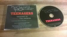 CD Rock My Chemical Romance - Teenagers : Radio Edit (1 Song) Promo REPRISE sc