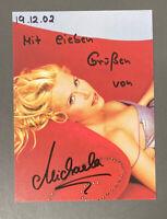 """MICHAELA SCHAFFRATH """"GINA WILD"""" Autogrammkarte 10,5 x 14 cm handsigniert SIGNED"""