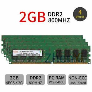 8GB kit 8G 4x 2GB PC2-6400U DDR2 800MHz DIMM SDRAM intel Desktop Memory Hynix