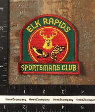 Vintage Elk Rapids Sportsmans Club Michigan Hunting Fishing Patch Twill
