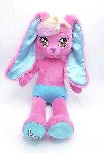 "Build A Bear BAB Honey Girl HG Risa Pink Rock Star Singing Bunny 20"" Plush Sprin"