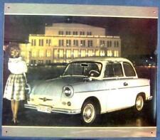 Altes Blechschild Oldtimer Trabant 500 bei Nacht Werbung Reklame gebraucht used
