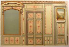 GRAND SALON CHÂTEAU CRETES SUISSE chromolitho 19e C. DALY ARCHITECTURE HAUSSMANN