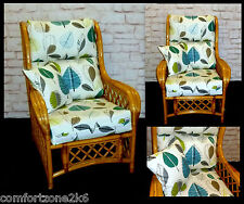 NEW BLUE LEAF CUSHION COVERS CANE RATTAN WICKER CONSERVATORY GARDEN FURNITURE