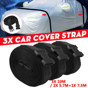 Car Truck Covers Straps Outdoor Buckle Overbody Stormforce 10M / 7.5M+5.7M Black