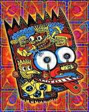 BART SIMPSON - 500hits blotter art - psychedelic goa acid artwork