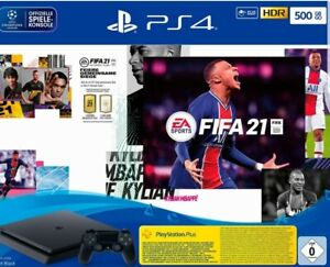 Ps4 Slim 500 gb + Fifa 21- Bundle Neu!