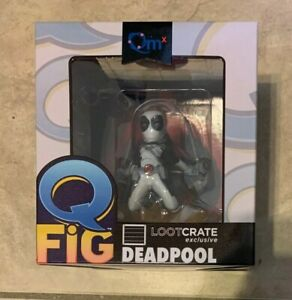 Marvel Deadpool Qfig Vinyl Figure Variant LootCrate Exclusive NEW in Box