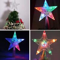 "14cm / 5.51"" Plastic Christmas Tree Topper Star Multi Color Party Light Decor"