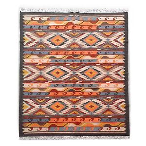 Hand Woven Traditional Ghazni Wool Kelim Large Afghan Kilim Rug 5x8 feet Carpet