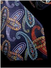 DUCHAMP LONDON, STUNNING BLUE & MULTICOLOR 'OVERLAPPING PAISLRY' TIE, FREEPOST
