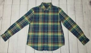 Pendleton Womens Long Sleeve Button Down Shirt 100% Cotton Blue Plaid SMALL NWOT