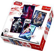 Trefl 4 In 1 35 + 48 + 54 + 70 Piece Kids Star Wars Episode VIII Jigsaw Puzzle