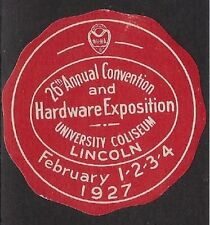 Usa Poster stamp: 1927 26th Annual Hardware Conven & Exposition, Lincoln - dw370