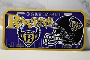 Baltimore Ravens License Plate Wincraft Made in USA - Durable Plastic