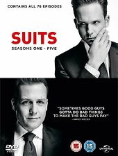 Suits Suites Complete Series Collection 1-5 DVD Box Set Season 1 2 3 4 5 UK New