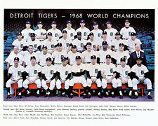 Detroit Tigers 1968 MLB Champions, 8x10 Color Photo