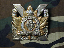 The Perth Regiment Cap Badge double lug King's Crown Canada Scully LTD Montreal