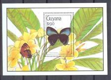 GUYANA 1990 Butterflies Sc.SS#2347 MNH **