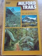 Vtg 1974 Signed Book MILFORD TRAILS Sutherland Falls NEW ZEALAND Walking Hiking