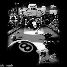 Cats Suck Saloon Motorcycle Biker HEAT PRESS TRANSFER for T Shirt Sweatshirt 41o