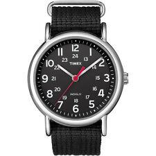 Timex T2N647 Men's Weekender, Black Fabric Watch, Indiglo, T2N6479J