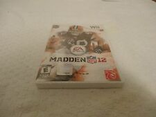Madden NFL 12 Video Game Nintendo Wii NEW SEALED  FREE SHIPPING