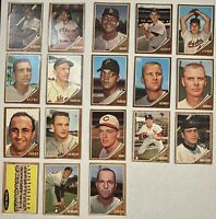⚾️1962 Topps 18-CARD LOT (VG to GD) including HOF Orlando Cepeda & High-#s