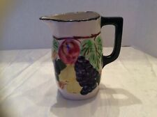 """Pitcher, Ceramic, Hand Painted, Blue Ridge China, Southern Potteries Inc. 6.5"""" H"""