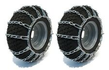 New PAIR 2 Link TIRE CHAINS 23x9.50x12 for Garden Tractors / Riders / Snowblower