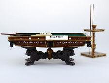 1:12 Dollhouse Miniature Bespaq Pool Table Set